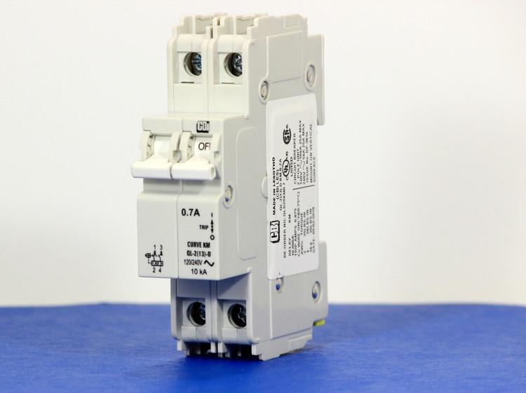 QLD29KM0.7 (2 Pole, 0.7A, 120/240VAC; 240VAC, UL Listed (UL 489))