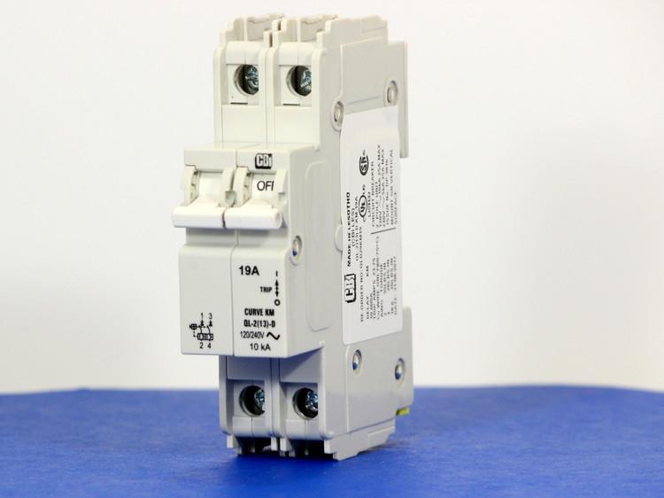 QLD29KM19 (2 Pole, 19A, 120/240VAC; 240VAC, UL Listed (UL 489))