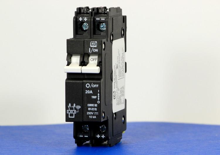 QY29U220T3 (2 Pole, 20A, 250VDC, UL Listed (UL 489))