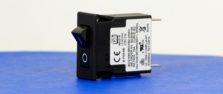 BDBG0186 (1 Pole, 20A, 65VDC/240VAC, Quick Connect, Series Trip, UL Recognized (UL 1077))