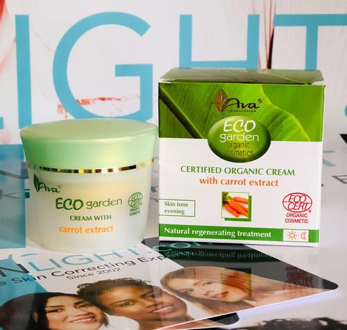 ECO Certifed Organic Carrot Extract Skin Correcting Cream