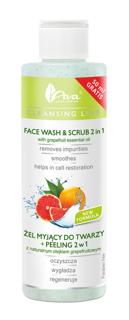 Facial Exfoliating Scrub 2 in 1 With Grapefruit Oil