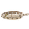 Era Studded Skinny Belt in Bone Gump Leather