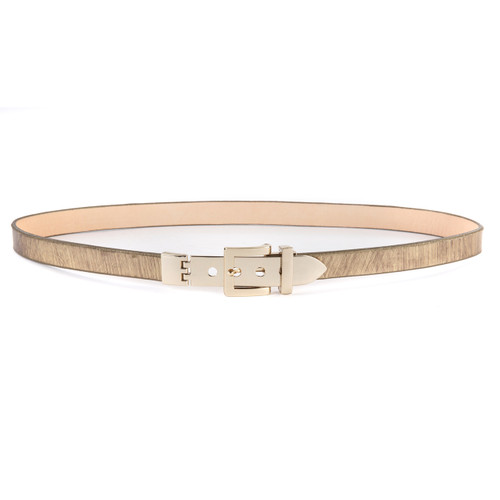Jasia metallic leather belt in Gold