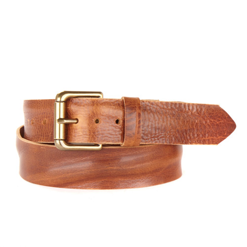 VENTURI GOLD BUCKLE LEATHER BELT