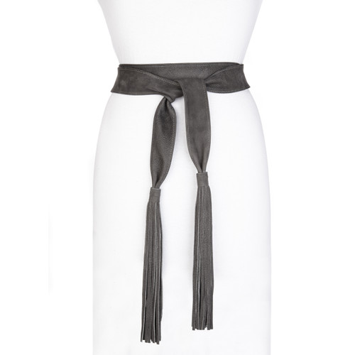 KAEPER LEATHER FRINGE WRAP BELT
