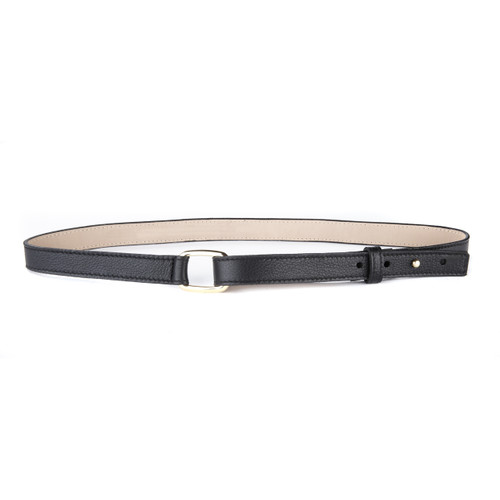 CONSTANCE LEATHER BELT IN GOLD/SILVER