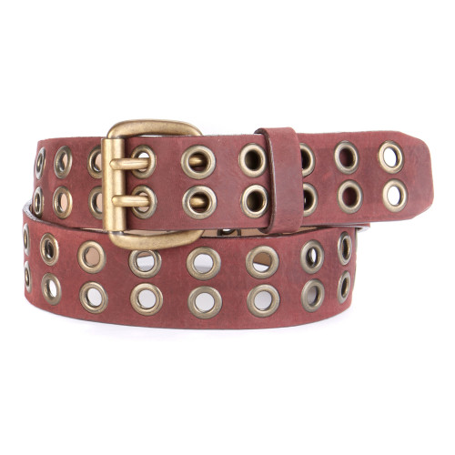 BACCA II STUDDED LEATHER BELT