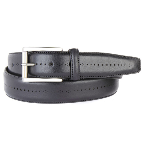 Brant leather belt