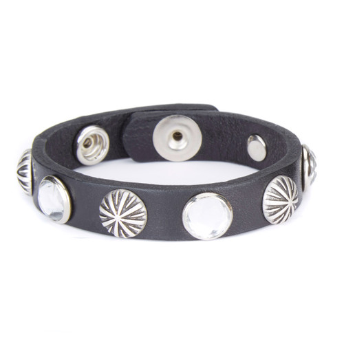 Tuta studded leather cuff