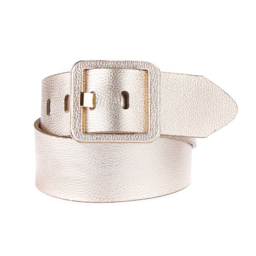 Makani Leather Belt in Gold