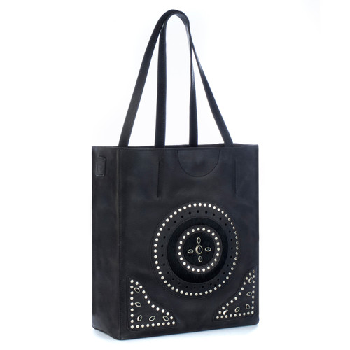 Eko studded tote in Smoke