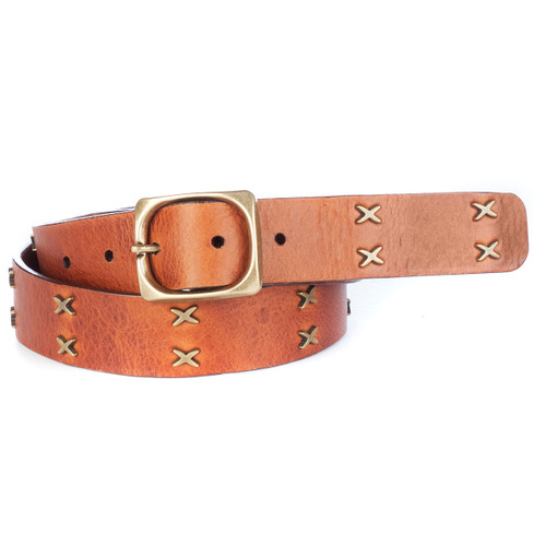 Cliona Leather Belt in Brandy