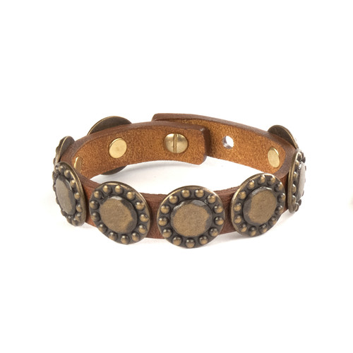 Adi Studded Leather Cuff