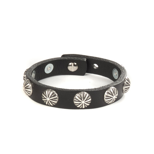 Feigi Studded Leather Cuff in Black