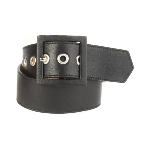 Lau Leather Belt in Black