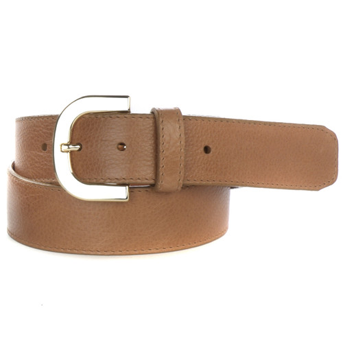 Jil Newport Leather Belt for Women in Tawny