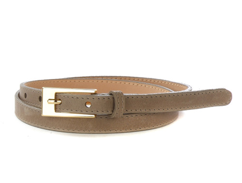 Jun Skinny Nappa Leather Belt for Women in Dusk