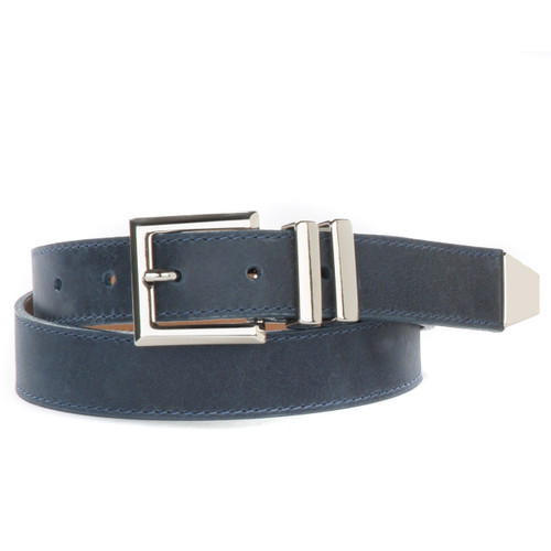 Mina Newport Leather Belt for Women in Midnight Shadow