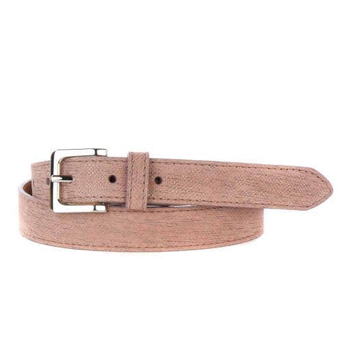 Millie Antemis Leather Belt in Blush