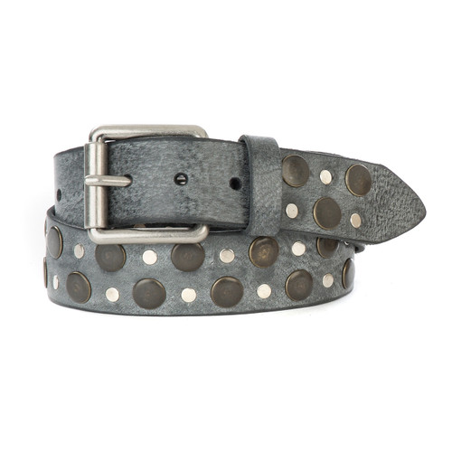 Tidir Studded Belt in Thundercloud Gump