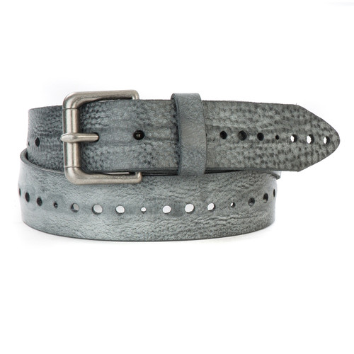 Anda Gump Leather Belt in Thundercloud