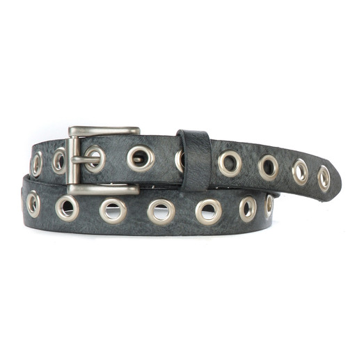 Dai Gump Leather Belt in Thundercloud