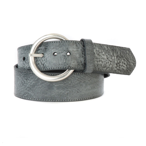 Vika Denim Leather Belt in Thundercloud Gump