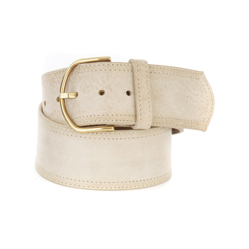 Katre Leather belt in Bone Gump