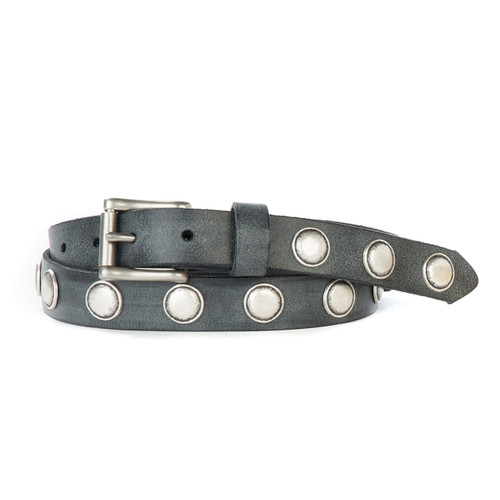 Judoc Leather Belt in Thundercloud Gump