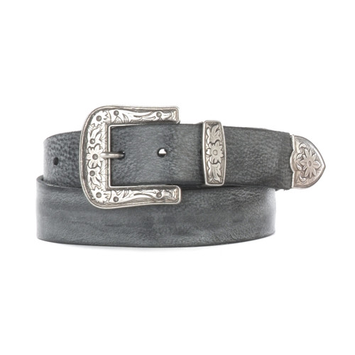 Omes Leather belt in Thundercloud Gump