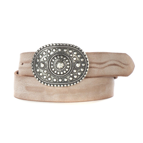 Genya Leather Belt in Coffee Gump
