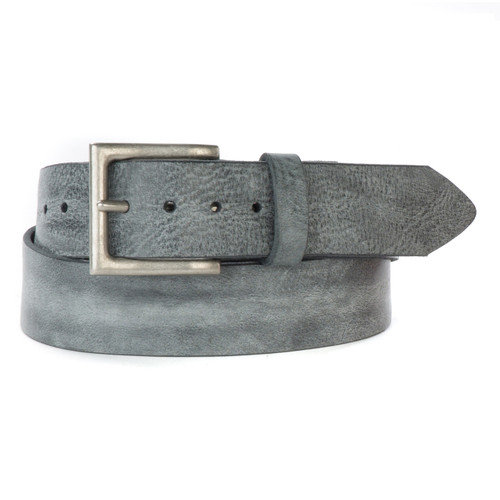 Jano Gump Leather Belt in Thundercloud