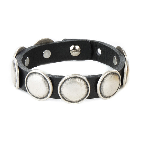 Yolo Studded Cuff in Black