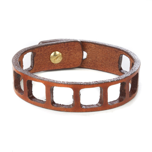 Tidir Laser Cut Bracelet in Brandy