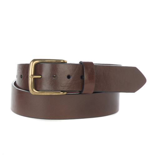 Duccio Leather Belt in Brown Milled