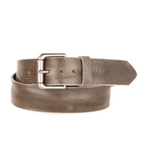 VENTURI SILVER BUCKLE LEATHER BELT