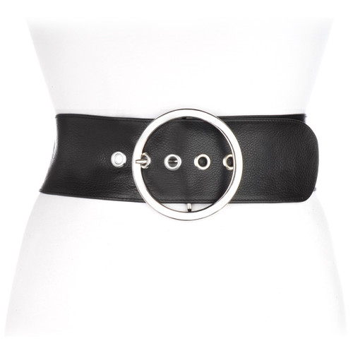 Kinga Leather Belt in Black
