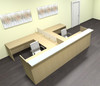8pc 12' Feet U Shaped Glass Divider Counter Reception Desk Set, #CH-AMB-R20