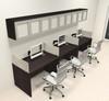 Three Person Modern Divider Office Workstation Desk Set, #CH-AMB-SP87