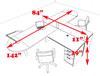 Two Person L Shaped Modern Divider Office Workstation Desk Set, #CH-AMB-SP19