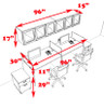 Two Person Modern Divider Office Workstation Desk Set, #CH-AMB-SP105