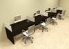 Four Person Divider Modern Office Workstation Desk Set, #OT-SUL-SP12