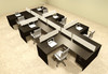 Six Person L Shaped Divider Office Workstation Desk Set, #OT-SUL-SP64