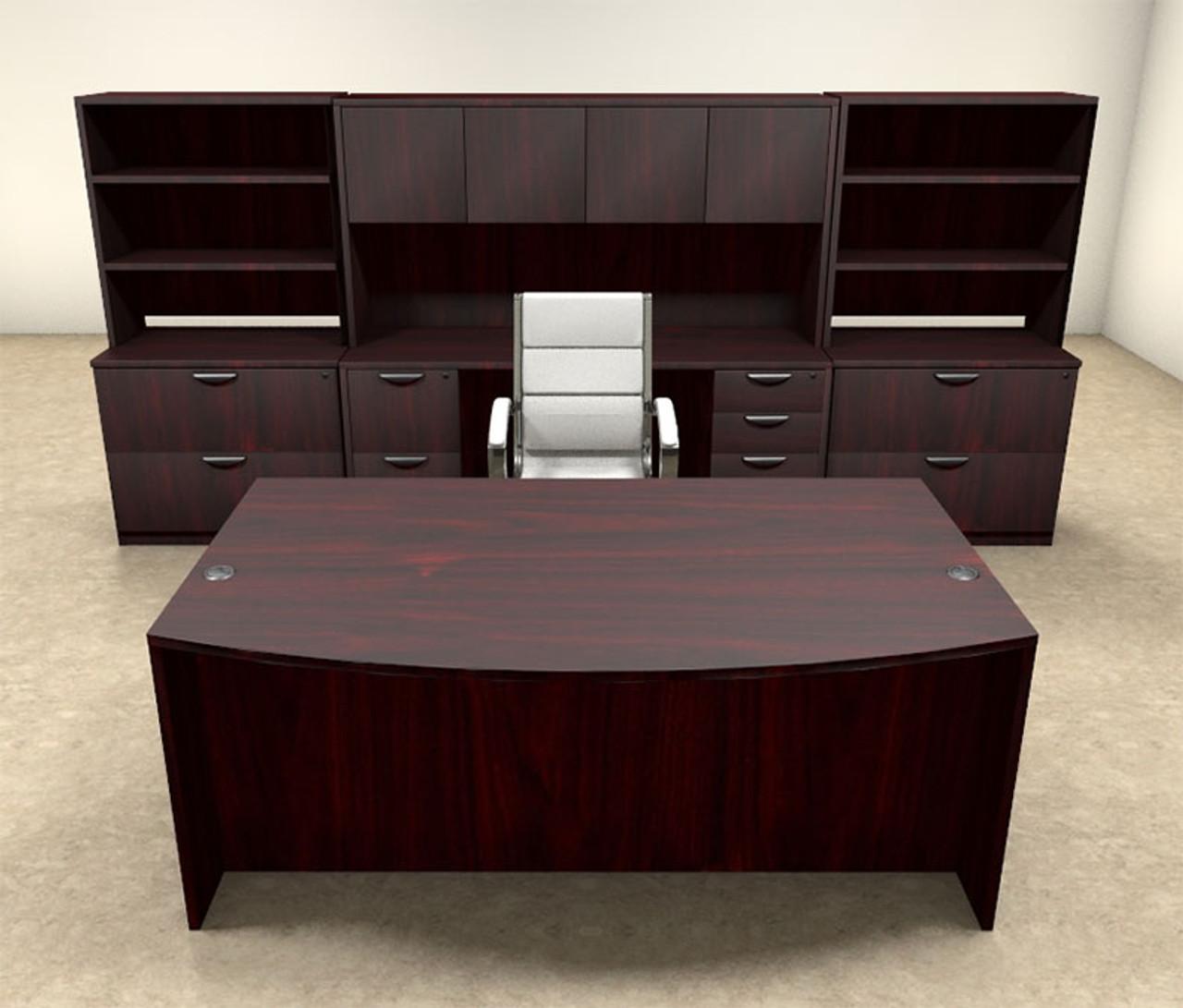 10pc Fan Front Modern Executive Office Desk Set, #OT-SUL-D11