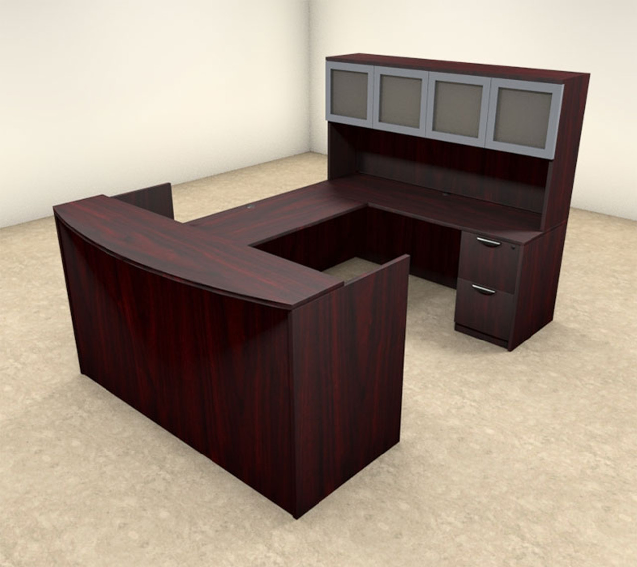 5pc U Shaped Modern Executive Office Reception Desk, #OT-SUL-R11