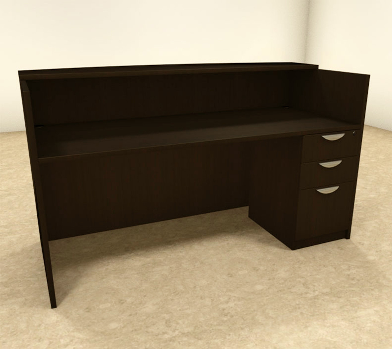 2pc Rectangular Modern Office Reception Desk Set, #OT-SUL-R4