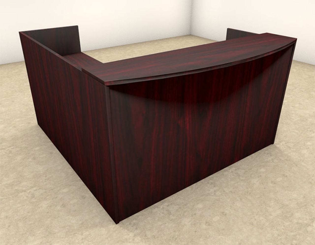 3pc L Shaped Modern Office Reception Desk, #OT-SUL-R7