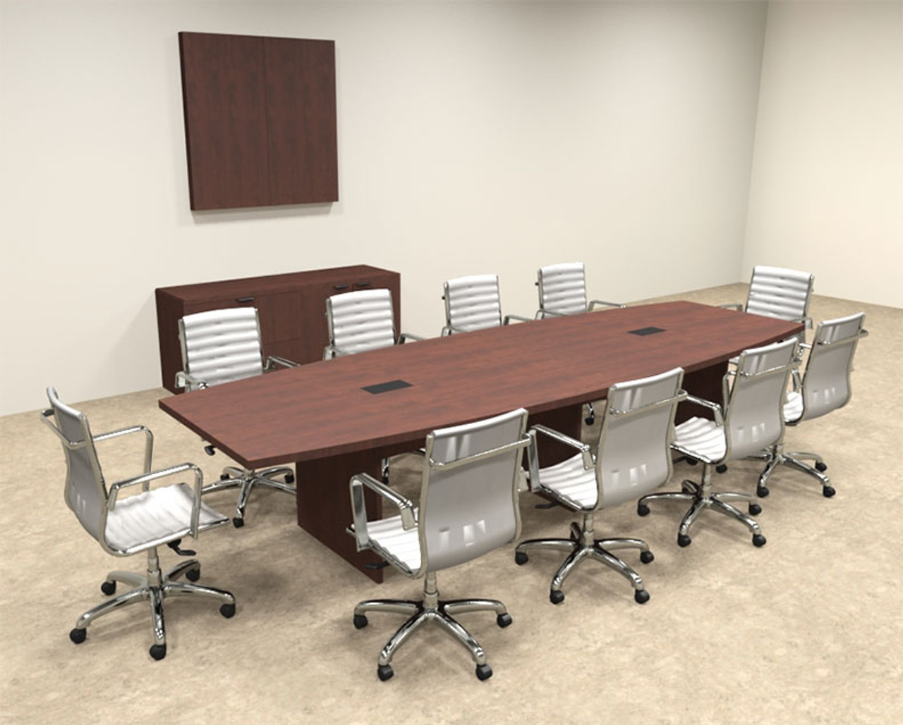 Modern Boat Shapedd Feet Conference Table OFCONC HO - 12 foot conference table