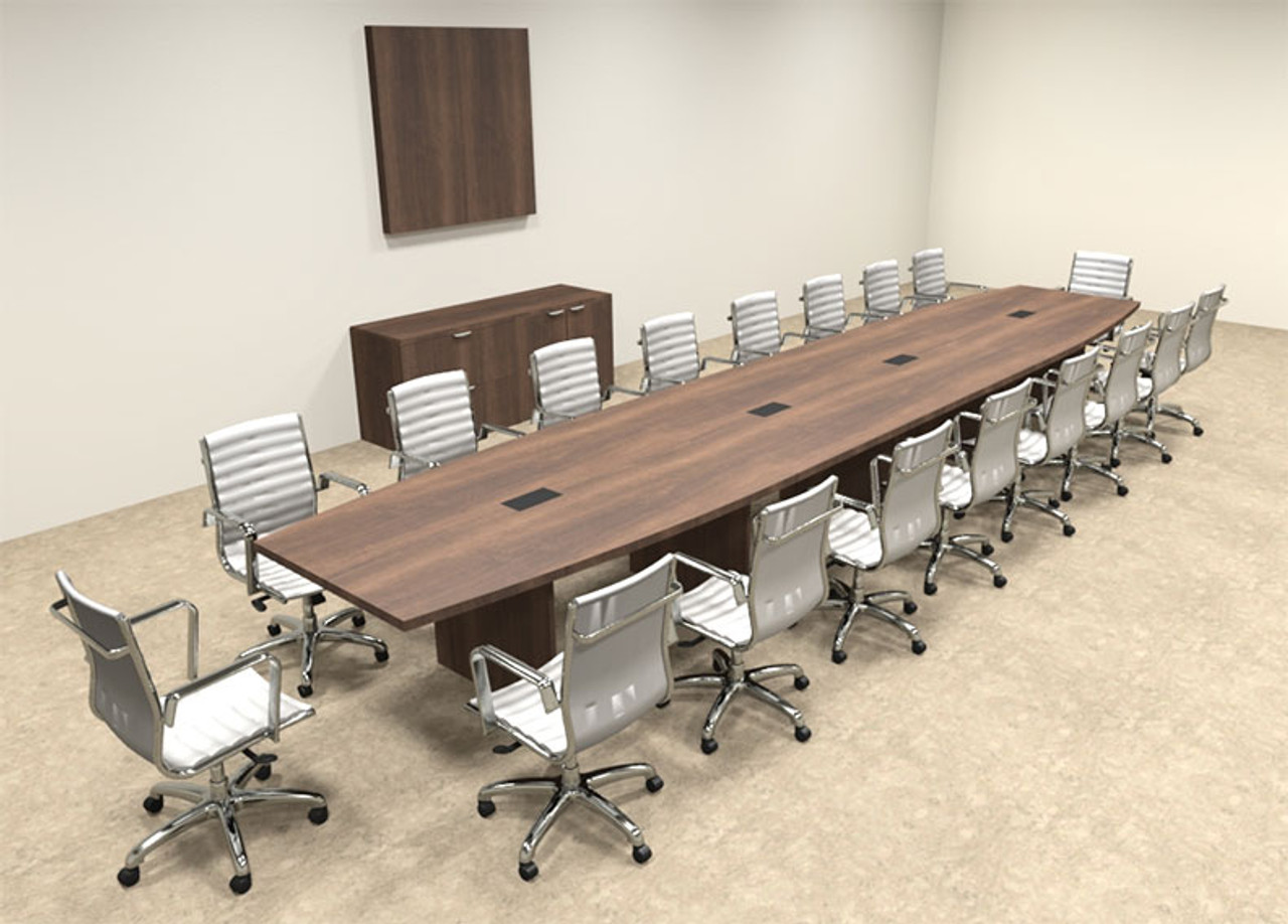 Modern Boat Shapedd Feet Conference Table OFCONC HO - 20 foot conference table
